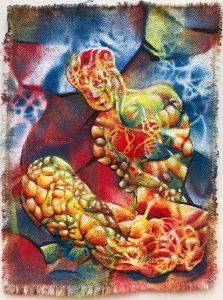 Crinkle Lava Figure acrylic on canvas 9x7 2019