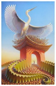 Crane Gate Giclee Edition  16x24