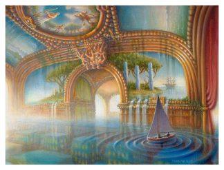 Train Blue Boating Giclee edition 2015 18″ X 24″