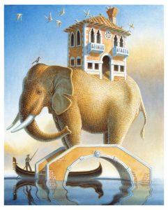Elephant Bridge Giclee edition 22 x 18