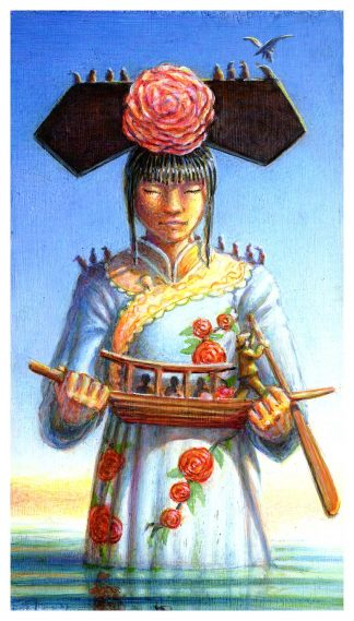 Servant Girl With Boat Giclee Edition 30x16