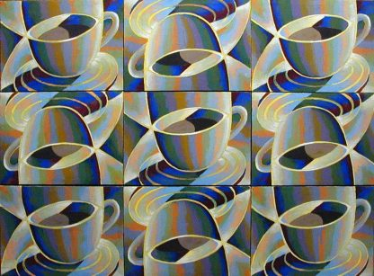 Nine Cups, oil on canvas, 39x54, 1997