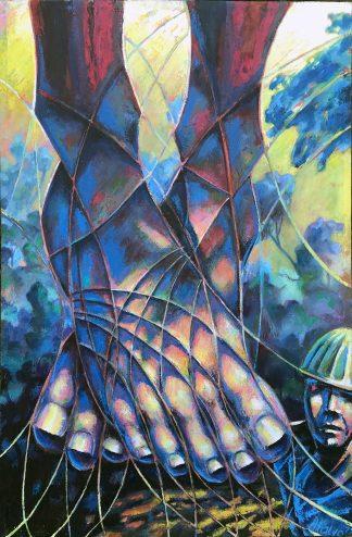 """Carpenter's Son, 31"""" X 48"""", oil on canvas, 1991"""