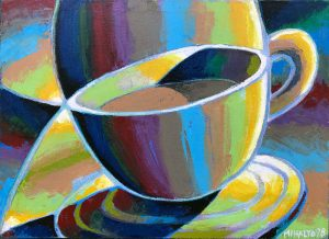 Cup 1 - 98, oil on canvas, 13x18, 1998