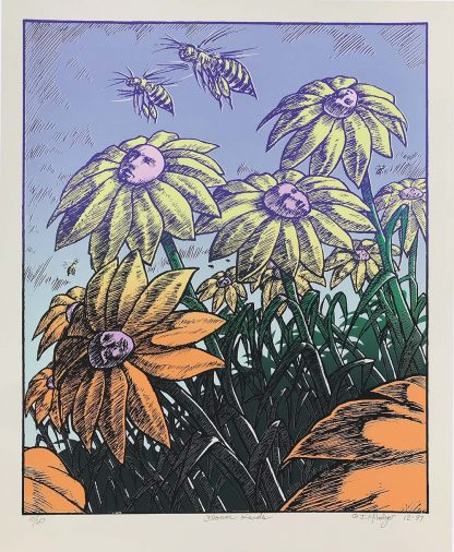Flower Heads, Silkscreen, paper: 17.5x14.24 inches, imprint: 15.5x.12.5, 1997, edition of 60, signed & numbered