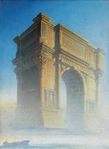 """""""Trade Arch"""", oil on canvas, 16""""X 12"""", 2003"""