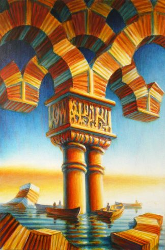 """""""Boat Arches"""", oil on canvas, 36"""" X 24"""", 2009"""