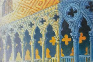 """""""Doges Palace III"""" (Study) 8"""" X 12"""" oil on canvas 2004"""
