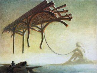 """Shadow under Bridge"" 12"" X 16"" oil on canvas 2002"