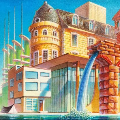 A Brief History of Architecture- Giclee Edition Detail